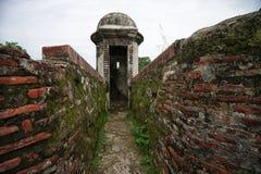 Παλαιές ισπανικές αρχιτεκτονικές λεπτομέρειες οχυρών στον Παναμά Στοκ φωτογραφίες με δικαίωμα ελεύθερης χρήσης