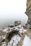 Παλαιές καταστροφές πολεμικών οχυρών στην παραλία Στοκ φωτογραφίες με δικαίωμα ελεύθερης χρήσης