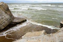 Παλαιές καταστροφές πολεμικών οχυρών στην παραλία Στοκ Εικόνα