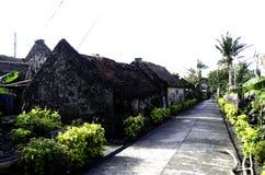 Παλαιές καταστροφές Batanes Φιλιππίνες σπιτιών Ivatan Στοκ Εικόνα