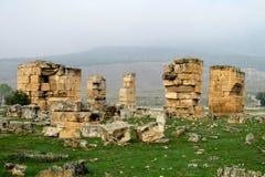 Παλαιές καταστροφές Hierapolis Στοκ εικόνα με δικαίωμα ελεύθερης χρήσης