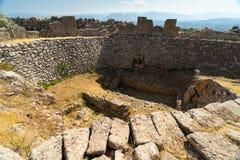 Παλαιές καταστροφές Mycenae Στοκ φωτογραφία με δικαίωμα ελεύθερης χρήσης