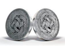 Παλαιές κεφάλια και ουρές νομισμάτων στοκ εικόνα με δικαίωμα ελεύθερης χρήσης