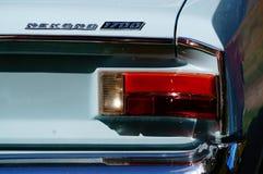 Παλαιές κλασικές άσπρες λεπτομέρειες κολπίσκων αυτοκινήτων Στοκ εικόνες με δικαίωμα ελεύθερης χρήσης