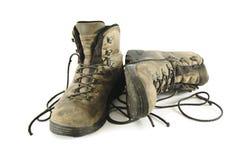 Παλαιές μπότες οδοιπορίας Στοκ εικόνα με δικαίωμα ελεύθερης χρήσης