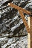 Παλαιές ξύλινες αγχόνες Στοκ φωτογραφίες με δικαίωμα ελεύθερης χρήσης