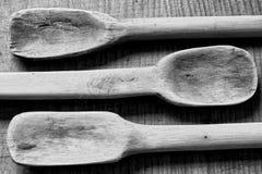 Παλαιές ξύλινες κουτάλες Στοκ Φωτογραφίες