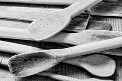 Παλαιές ξύλινες κουτάλες Στοκ φωτογραφία με δικαίωμα ελεύθερης χρήσης