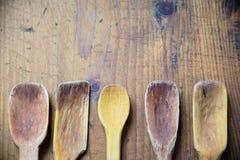 Παλαιές ξύλινες κουτάλες Στοκ Φωτογραφία