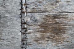 Παλαιές ξύλινες σανίδες με τα καρφιά Στοκ Εικόνες