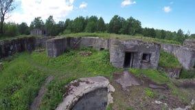Παλαιές οχυρώσεις από το ύψος της πτήσης πουλιών φιλμ μικρού μήκους