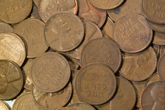 Παλαιές πένες σίτου χαλκού Στοκ φωτογραφία με δικαίωμα ελεύθερης χρήσης