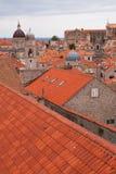 Παλαιές πόλης στέγες Dubrovnik, Κροατία Στοκ εικόνες με δικαίωμα ελεύθερης χρήσης