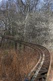 Παλαιές ράγες ρόλερ κόστερ Στοκ φωτογραφίες με δικαίωμα ελεύθερης χρήσης