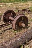 Παλαιές ρόδες σιδηροδρόμων Στοκ Φωτογραφίες