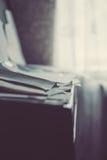 Παλαιές σκονισμένες σημειώσεις για ένα εκλεκτής ποιότητας πιάνο Στοκ Εικόνες