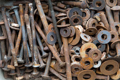Παλαιές σκουριασμένες βίδες στοκ φωτογραφίες με δικαίωμα ελεύθερης χρήσης