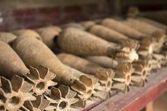 Παλαιές, σκουριασμένες χειροβομβίδες Στοκ Φωτογραφία