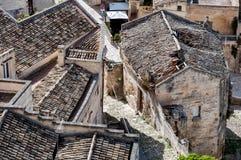 Παλαιές στέγες στο αρχαίο Di $matera Sassi Στοκ φωτογραφίες με δικαίωμα ελεύθερης χρήσης