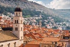 παλαιές στέγες της Κροατίας πόλεων dubrovnik Στοκ Εικόνες