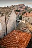 παλαιές στέγες της Κροατίας πόλεων dubrovnik Στοκ εικόνες με δικαίωμα ελεύθερης χρήσης