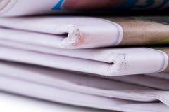 Παλαιές συσσωρευμένες εφημερίδες Στοκ Εικόνα