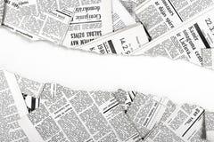 Παλαιές σχισμένες εφημερίδες Στοκ Εικόνα