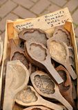 Παλαιές φόρμες μπισκότων Στοκ Εικόνες