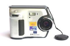 Παλαιές ψηφιακές κάμερα στο άσπρο υπόβαθρο Στοκ εικόνα με δικαίωμα ελεύθερης χρήσης