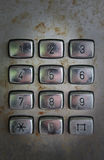 Παλαιοί αριθμοί τηλεφωνικών αριθμητικών πληκτρολογίων Στοκ Φωτογραφίες