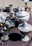 Παλαιοί θησαυροί της αγοράς της Πορτογαλίας Στοκ Εικόνες