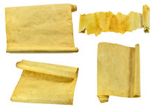 Παλαιοί κύλινδροι και parchments καθορισμένοι στοκ εικόνες