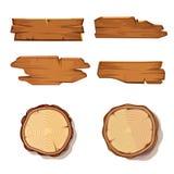Παλαιοί ξύλινοι διανυσματικοί σανίδες και κορμός δέντρων περικοπών πριονιών στο λευκό ελεύθερη απεικόνιση δικαιώματος