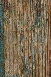 Παλαιοί ξύλινοι πίνακες με την κινηματογράφηση σε πρώτο πλάνο αποφλοίωσης χρωμάτων Στοκ Εικόνες