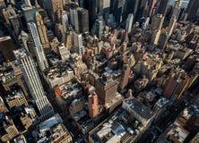 Παλαιοί ουρανοξύστες στην πόλη της Νέας Υόρκης Στοκ Φωτογραφίες