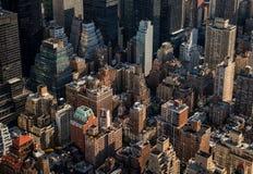 Παλαιοί ουρανοξύστες στην πόλη της Νέας Υόρκης Στοκ Εικόνα