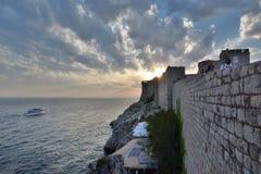 Παλαιοί πόλης τοίχοι dubrovnik Κροατία Στοκ Φωτογραφία