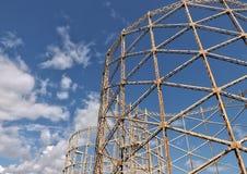 Παλαιοί πύργοι αερίου Στοκ Εικόνες