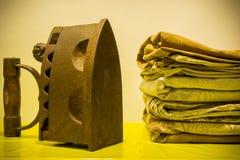 Παλαιοί σίδηρος και λινό Στοκ Εικόνα