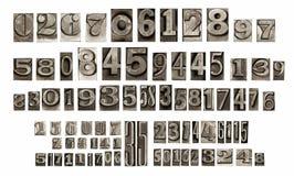 Παλαιοί στοιχειοθετημένοι αριθμοί Στοκ Εικόνες