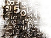 Παλαιοί στοιχειοθετημένοι αριθμοί Στοκ εικόνα με δικαίωμα ελεύθερης χρήσης