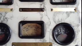 Παλαιοί ταμπλό και πίνακας ελέγχου αεροπλάνων όχι σε λειτουργία απόθεμα βίντεο