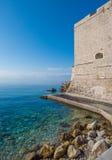 Παλαιοί τοίχοι πόλεων, Dubrovnik, Δαλματία, Κροατία Στοκ Φωτογραφία