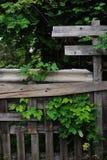 Παλαιοί φράκτης και λυκίσκος Στοκ Φωτογραφία