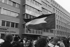 Παλαιστινιακή σημαία Στοκ φωτογραφία με δικαίωμα ελεύθερης χρήσης
