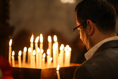 Παλαιστινιακοί Χριστιανοί στην εκκλησία του ST Porphyrius στο Γάζα Στοκ εικόνες με δικαίωμα ελεύθερης χρήσης