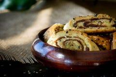 """Παλαιστινιακό μπισκότο με τις ημερομηνίες αποκαλούμενες makrota, Ù… Ù 'روطة Ù  Ù """"Ø ³ طي٠† ية Στοκ Εικόνα"""