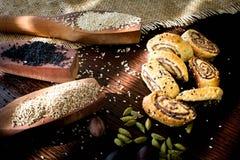 """Παλαιστινιακό μπισκότο με τις ημερομηνίες αποκαλούμενες makrota, Ù… Ù 'روطة Ù  Ù """"Ø ³ طي٠† ية Στοκ εικόνα με δικαίωμα ελεύθερης χρήσης"""