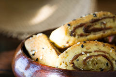 """Παλαιστινιακό μπισκότο με τις ημερομηνίες αποκαλούμενες makrota, Ù… Ù 'روطة Ù  Ù """"Ø ³ طي٠† ية Στοκ φωτογραφία με δικαίωμα ελεύθερης χρήσης"""