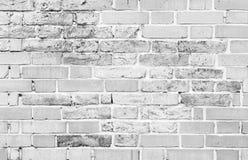 Παλαιός άσπρος τουβλότοιχος, λεπτομερής σύσταση υποβάθρου στοκ εικόνες